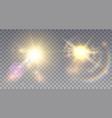 two vivid summer suns vector image vector image