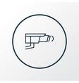 video control icon line symbol premium quality vector image