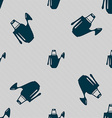 Watering can icon sign Seamless pattern with vector image