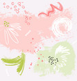watermelon grunge pink green bckground pastel vector image vector image