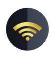 wifi icon black circle background image vector image vector image