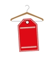 clothing hook icon vector image