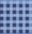 cute flower with indigo square background vector image
