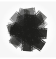 trimming of the film background vector image