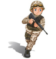 A brave soldier with a gun vector image vector image