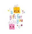 A gift for you vector image vector image