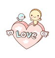 A view of heart icon vector image vector image
