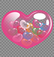 Abstract colorful heart balloons for Valentine day vector image vector image