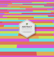 abstract of colorful stripe lines pattern vector image vector image