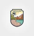 american samoa national park logo sticker patch vector image vector image