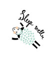 another sleeping sheep vector image