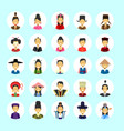 asian man and woman avatar set icon female male vector image vector image