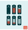 Battery icon isolated vector image vector image
