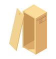big box icon isometric style vector image vector image