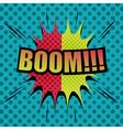 Boom comic cartoon vector image vector image
