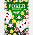casino poker tournament wheel fortune jackpot vector image vector image