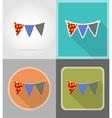 celebration flat icons 10 vector image