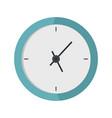 clock minimal icon flat style vector image vector image