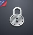 closed lock icon symbol 3D style Trendy modern vector image