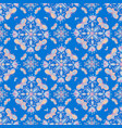 colorful butterfly mandala pattern on a blue tile vector image vector image