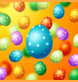 colorful easter eggs background vector image vector image