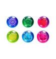 colorful glossy balls set shiny spheres vector image vector image