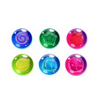 colorful glossy balls set shiny spheres with vector image vector image