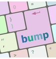 Computer keyboard with bump key business concept vector image