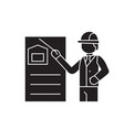 construction solution black concept icon vector image