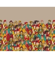 Crowd of trendy people and beige color vector image vector image