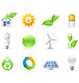Ecology and green energy icon