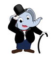 Elephent head man wear Tuxedo vector image vector image