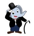 Elephent head man wear Tuxedo vector image