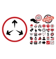 Expand Arrows Flat Icon with Bonus vector image vector image