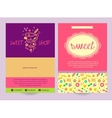 Flyer sweets Background ad logo vector image vector image