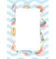 frame with seashells vector image