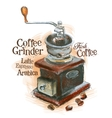fresh coffee logo design template grinder vector image vector image