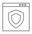 internet security thin line icon safety network vector image vector image