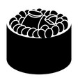 isolated sushi silhouette vector image vector image