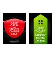 keep calm merry home christmas christmas poster vector image vector image