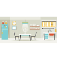 Kitchen Dining Room Furniture Display Panorama vector image vector image