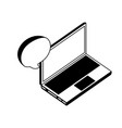 laptop computer with speech bubble isometric icon vector image vector image