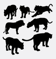 Lion panther and puma silhouette vector image vector image
