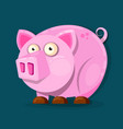 little pink pig in cartoon style chinese new vector image vector image