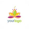 lotus flower logo vector image vector image