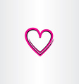love heart icon design vector image vector image
