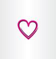 love heart icon design vector image