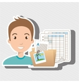 man with papers isolated icon design vector image vector image