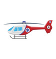 medical helicopter icon isolated on white vector image vector image