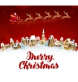 Merry Christmas greeting card Santa Claus in vector image vector image